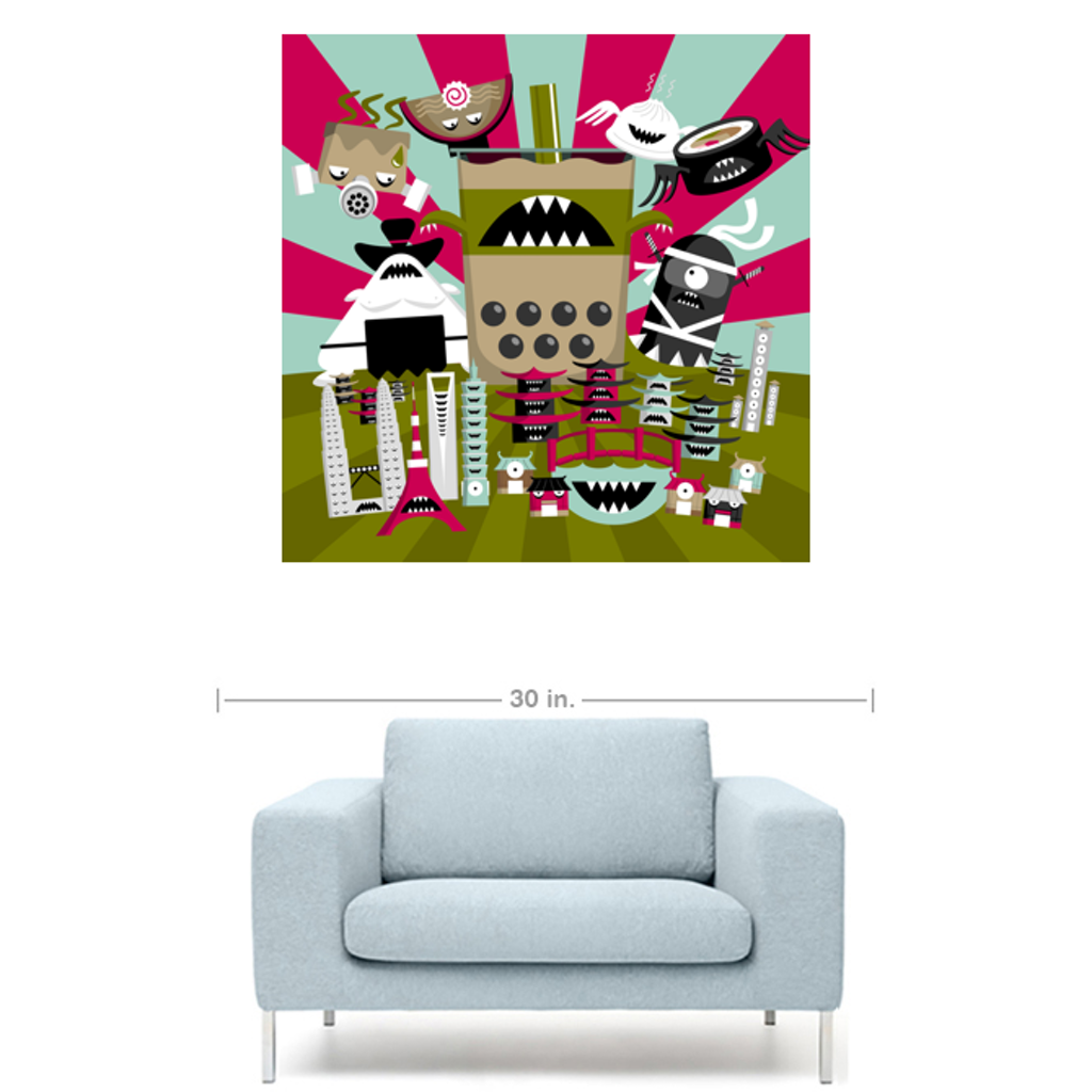 ALL HAIL BOBAZILLA Canvas Print