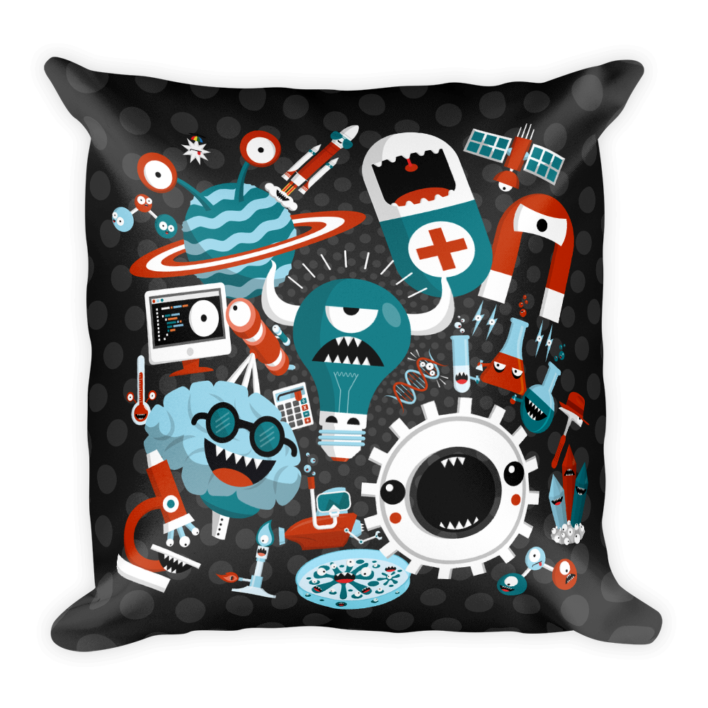 SCIENCE! Square Pillow