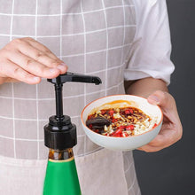 Seasoning Bottle Squeeze Mouth Soy Sauce Container Squeezer Pump Head Pressure Nozzle Plastic Kitchen Tool