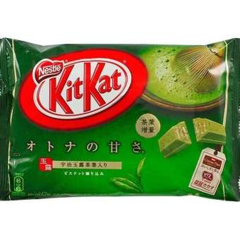 Kitkat Kit Kat Green Tea Flavored 1 Bag 135 g. There are 12 packs.