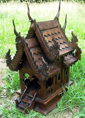 Large Size Thai Buddhism Handmade Spirit House 14x10x16 Wholesale Price Made of Thailand