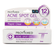 Provamed Acne Spot Gel 4% Poly-Pore Salicylic Acid Active Advanced Formula Rapid Clear 10g for T-Zone