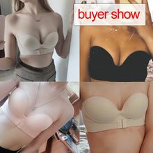 Sexy Invisible Bras Women Push Up Strapless Bra Lingerie Backless Brassiere Seamless Bralette Underwear for Wedding Dress #F