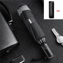 Automatic folding automatic open reverse umbrella male creative sunny rain strong reflective anti-wind umbrella