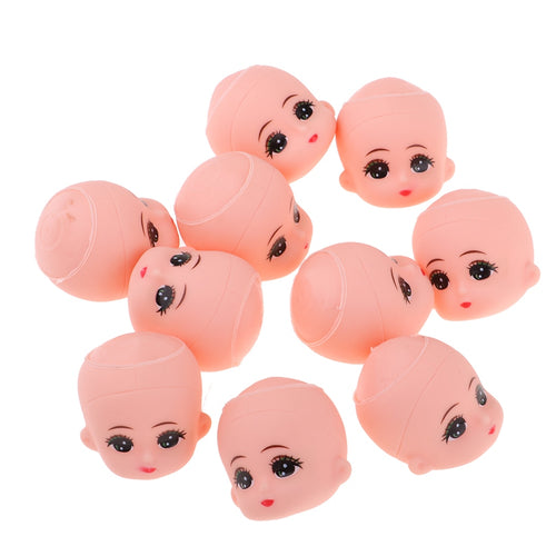 10pcs Mini Baby Heads Mold for 5inch Bathing Doll Custom Making Body Parts Key Chains Doll Custom