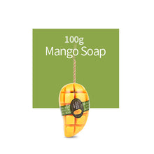 Thailand Natural Handmade Whitening Mango Soap Fruits Extract flower soap Reduce Dark Spot