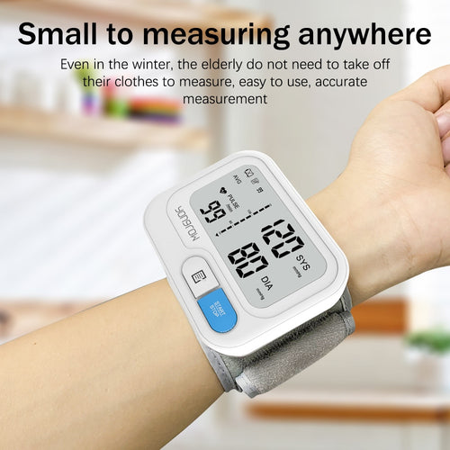 Tonometer Automatic Wrist Digital Blood Pressure Monitor Digital lcd Sphgmomanometer Heart Rate Pulse Meter BP Monitor