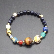 Jewelry Beaded Natural Stone Planet Bracelet Universe Charm Personalized Bracelet