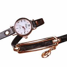 New 2017 Fashion Women Watch Leather Casual Watches Gold Quartz Bracelet Wristwatches Round Dress Watches Bracelet Watch Clock - sellhotproducts