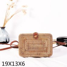 Woven Rattan Bag Round Straw Shoulder Bag HandBags Women Summer Hollow Handmade Messenger Crossbody Bags