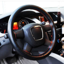 Universal Car Steering Wheel Cover With Needles Thread PU Leather DIY Genuine Artificial Leather Car Styling Accessories ATV SUV - sellhotproducts