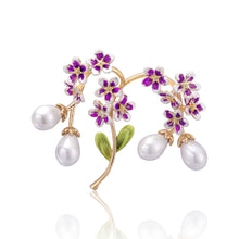 Tulip Pearl Flower Brooch Enamel Elegant Brooches For Women New Deisgn Autumn Style Jewelry Gift