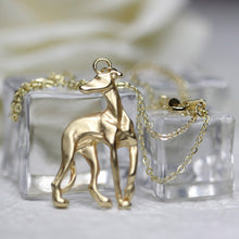 Necklace Galgo Adopt Rescue Whippet Dog Shape Gold Filled Bronze Inspired Chain Necklace