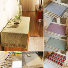Retro Carpet For Sofa Living Room Bedroom Rug Cotton Anti Slip Table Home Decoration