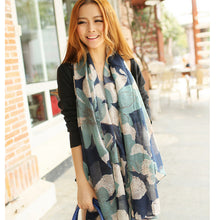 Visual Axles Spring Fashion Women Scarf Big Floral Print Viscose Ladies Shawls Female Scarves