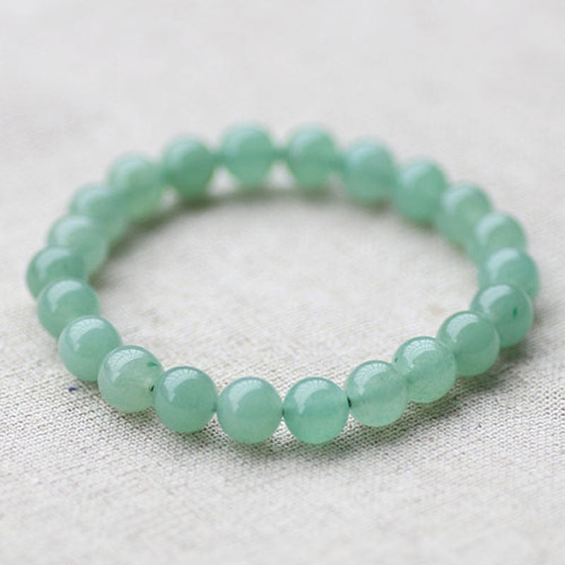 Stretch Bracelet Elastic Natural Stone Light Green Created Bead Expandable Jewelry Pulses Bracelets Diy