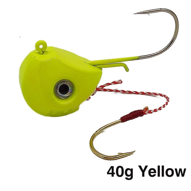 Jig Lures 40g 60g 80g 100g Lead Head Jigs with Single Hook Pesca Accessories Boat Fishing Equipment