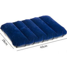 Ultralight Inflatable Air Pillow Cushion PVC Nylon Travel Bedroom Beach Rest Support