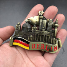 Venice Magnet Metal 3D Refrigerator Sticker Fridge Magnet Souvenir Berlin Castle Brazil Jesus Kitchen Magnet Sticker