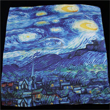Oil Painting Silk Scarf Bandanna Women Scarf Fashion Square Scarves Head Neck Tie Band Neckerchief