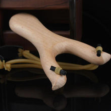 Powerful Wooden Slingshot Shot Catapult For Hunting Sports Game