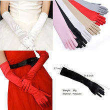 Long Gloves Satin Women Female Elbow Summer Sun Protection Driving Gloves Ladies Gloves