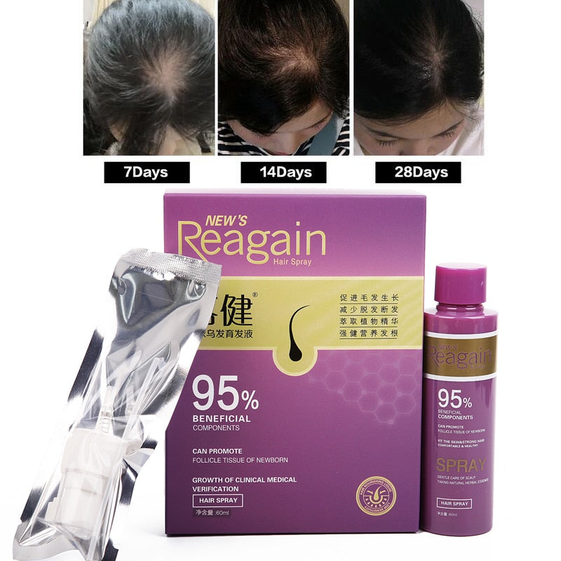 Polygonum multiflorum, Women Men Hair Growth Treatment Oil for Anti Hair Loss Essence Fast Thick Hair Eyebrows Hair Treatment