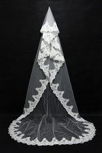 One Layer Lace Edge Cathedral Long Wedding Veil With Comb Bridal Accessories White Ivory Bride