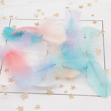 Natural Goose Feathers 4-8cm Small Floating Colourful Swan Feather Plume for Craft Wedding 100pcs