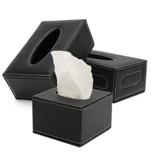 The Best Quality Black European PU Leather Magnetic Tissue Paper Box Holder Case Home Car Office - sellhotproducts