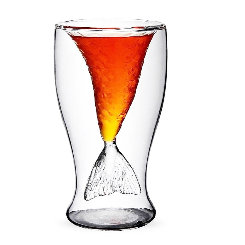 Novelty Creative Crystal Mermaid Cup Glass Mug Vodka Shot Drinking Bar Party Cup - sellhotproducts