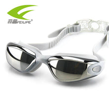 New HD flat waterproof goggles anti-fog swimming goggles/myopia male/female big box electroplating swimming glasses - sellhotproducts
