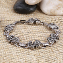 Wholesale Stainless Steel Chinese Lucky Dragon Bracelets Punk Style Snake Beaded Bangle Wristband Big Discount - sellhotproducts