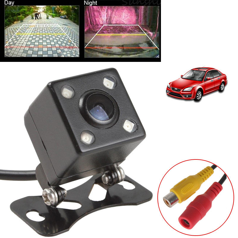 Universal Waterproof Rear View Camera Wide Angle Car Back Reverse Camera  CCD 4 LED Light Night Vision Parking Assistance Camera - sellhotproducts