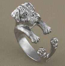 newest wholesale adjustable retro punk boxer Ring free size hippie animal boxer dog Ring jewelry for pet lovers 12pcs/lot - sellhotproducts