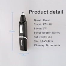 Kemei KM-511 Electric Nose Trimmer For Men Beauty AA Battery Nose and Ear Hair Trimmer For Nose Hair Removal and Men Nose Trimer - sellhotproducts