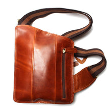 New High Quality Vintage Casual Crazy Horse Leather Genuine Cowhide Men Chest Bag Small Messenger Bags For Man - sellhotproducts