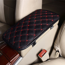Leather Car Armrest Pad Covers Universal Center Console Auto Seat Armrests Box Pads Black Armrest Storage Protection Cushion - sellhotproducts