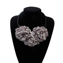 Terreau Kathy 4 Colors Bohemian Big Size Fabric Rose Flower Choker Necklace Women Statement Necklace Vintage Jewelry BKN801-N805 - sellhotproducts