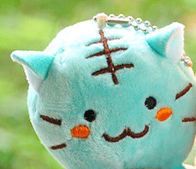 Kawaii 4Colors Choice - 6CM TIGER CAT Plush Key chain DOLL Plush Stuffed TOY DOLL ; BAG Pendant TOY Wedding Bouquet Gift DOLL - sellhotproducts