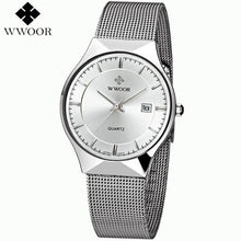 New Men Watches Top Brand Luxury 50m Waterproof Ultra Thin Date Clock Male Steel Strap Casual Quartz Watch Men Wrist Sport Watch - sellhotproducts