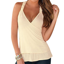 New 2016 Summer Women Ladies Sexy Deep V Neck Backless Lace Crochet Halter Tank Tops blusas Fitness Slim Blouse Vest Shirts Z1 - sellhotproducts