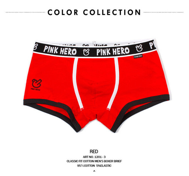 Pink Heroes 100% Cotton Men's Underwear Comfortable Boutique Panties Brand Sex Male Man Boxer Underpants Gift Wholesale C86 - sellhotproducts