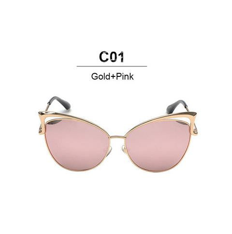 New Fashion Cat Eye Sunglasses Women Brand Designer Twin-Beam Mirror Sun Glasses Vintage Female lentes de sol mujer Sunglasses - sellhotproducts