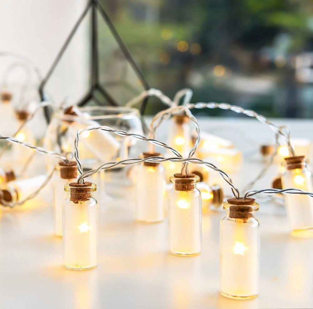 Novelty Glass Jar Mini Battle LED String Lights with 20 LED Battery operated for Wedding Party Fairy Lights Christmas Deocration - sellhotproducts