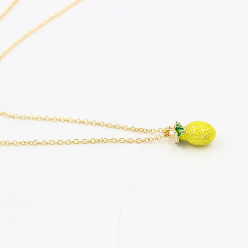 New Delicate Woman Girl Fruit Jewelry Gold Chains Cherry & Apples Necklace For Women Pendant Necklaces Jewelry Cristmas gift - sellhotproducts