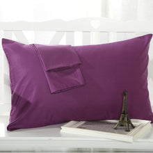 ROMORUS Pillow Cover Standard Queen Cases Solid Color 100% Cotton Linen Pillowcase 48*74CM White/Purple/Pink Sleep Pillow Covers - sellhotproducts