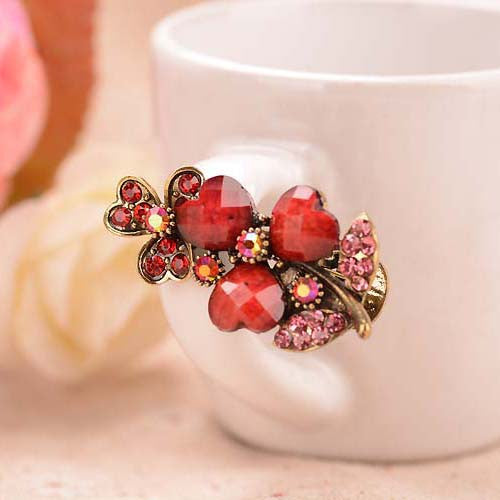 Retro Flower Hair Clip Antique Bronze Plating Hair Jewelry For Women Retro Imitation Turquoise Stone Hairgrips Hair Accessories - sellhotproducts