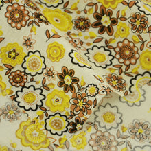 New Arrivals Fat Quarter Brown and Yellow Flower Style Cotton Fabric Art Work Curtain Tida Tecido Doll Cloth Sewing Home Textile - sellhotproducts
