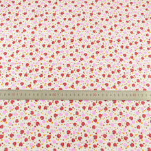 Lovely Red Fat Quarter Red  Pink Strawberry Designs Cotton Fabric Home Textile Art Work Tida Tecido Doll Cloth Fabrics CM Sewing - sellhotproducts